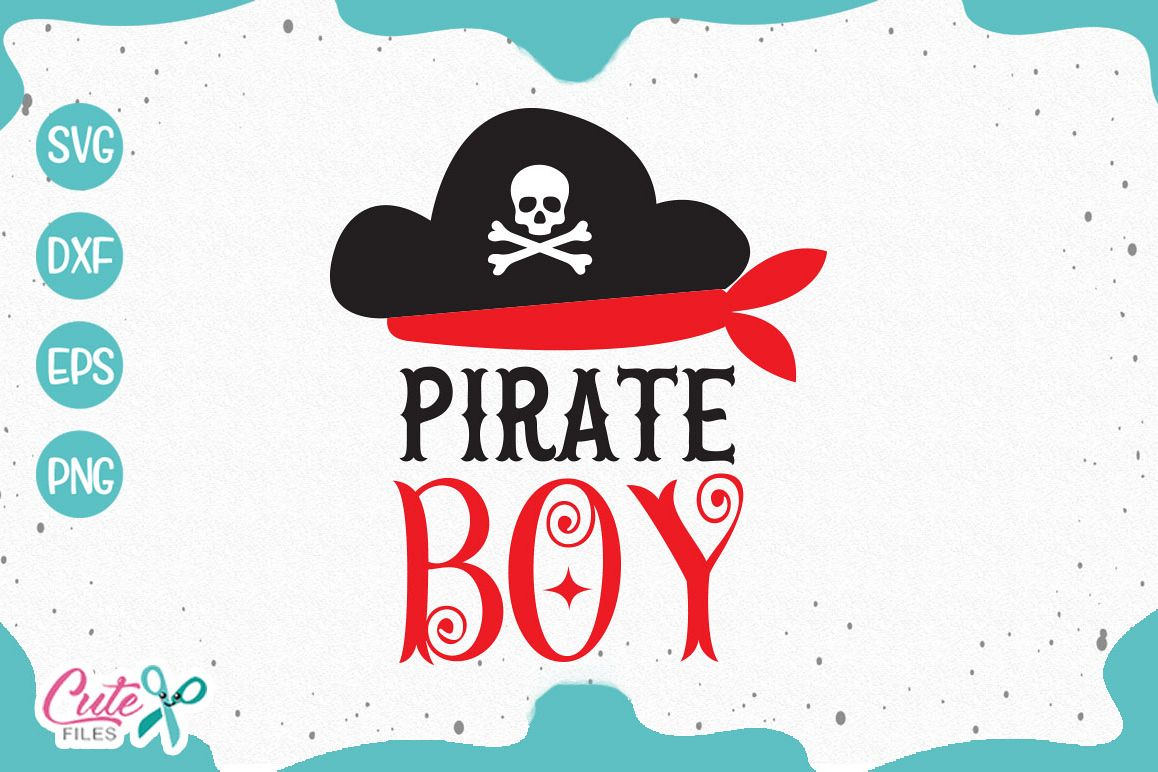 Pirate boy Svg cut Files example image 1