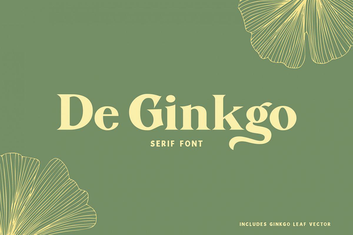 De Ginkgo Font example image 1