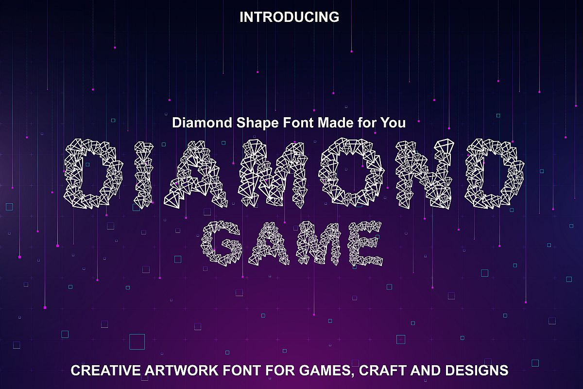 Diamond Font - Diamond Shapes Font for You example image 1