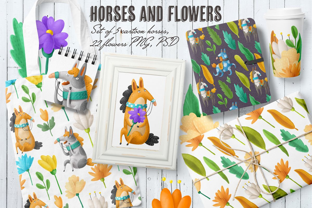 Flowers and Horses example image 1