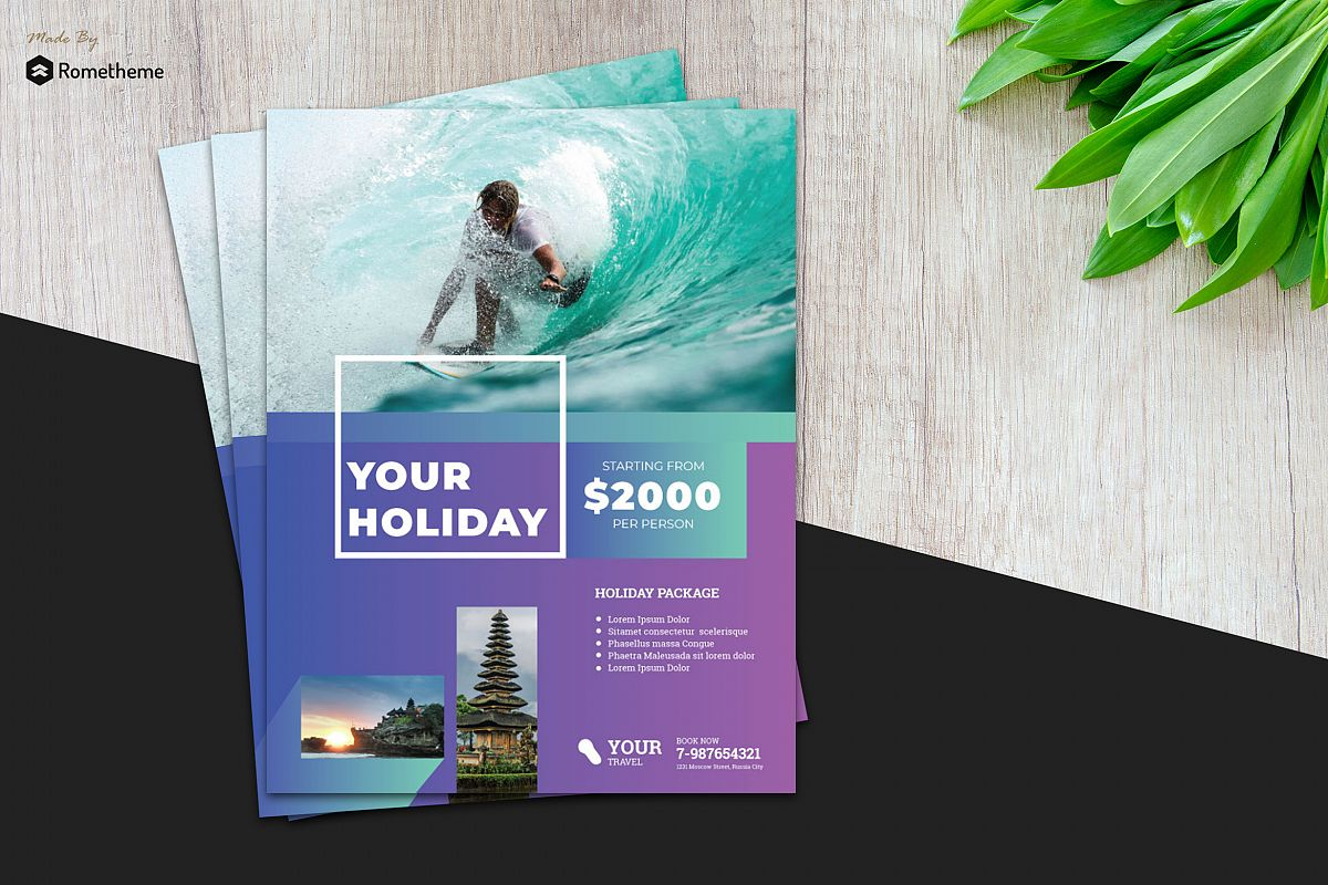 Holiday Travel Flyer vol.6 example image 1