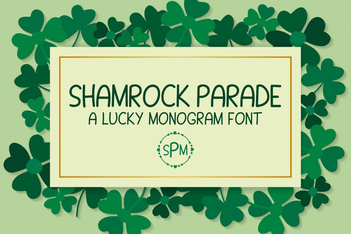 Shamrock Parade - A Lucky Monogram Font example image 1