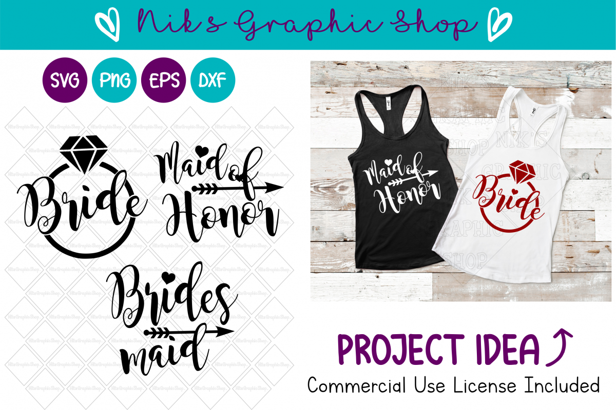Bride Svg, Bridal Party Svg, Bride Squad Svg, Bride Shirt example image 1