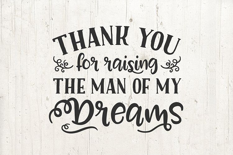 Mother in Law Mother of the Groom Wedding Gift svg Thank You example image 1