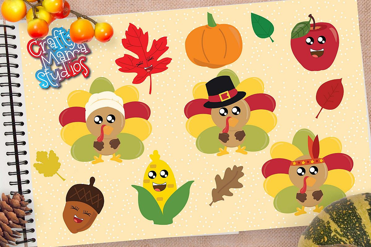 Thanksgiving Bundle SVG, Turkey, Pilgrims Sublimation example image 1