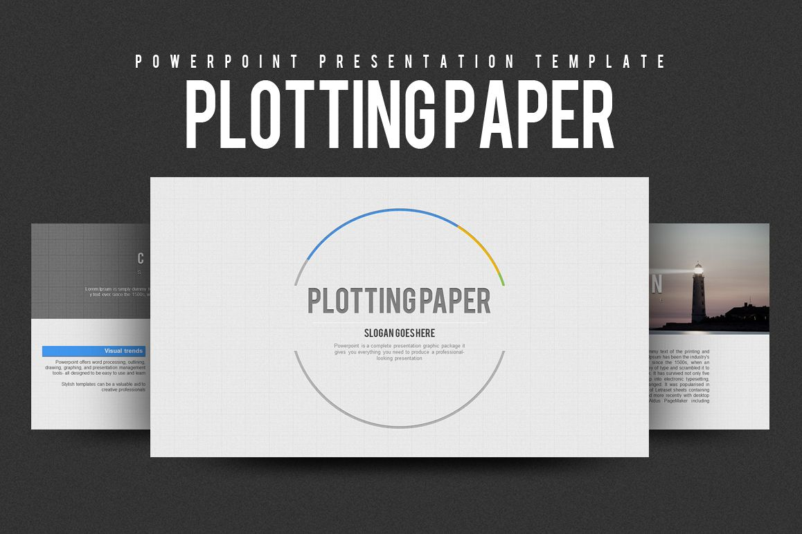 Grid PowerPoint Template example image 1