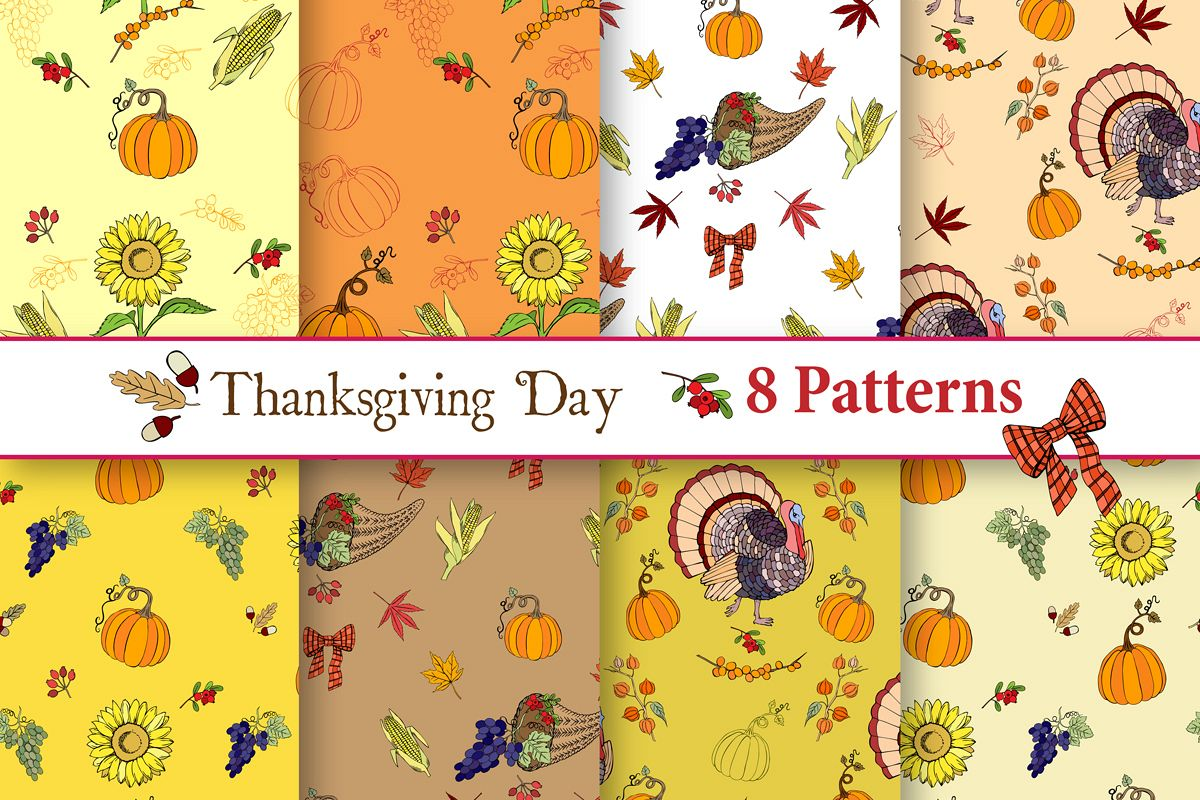 Thanksgiving Day Patterns example image 1