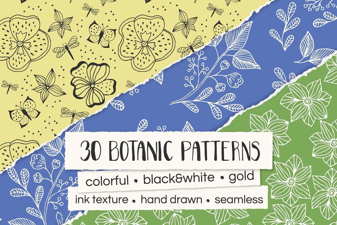 30 Botanic Patterns example image 1
