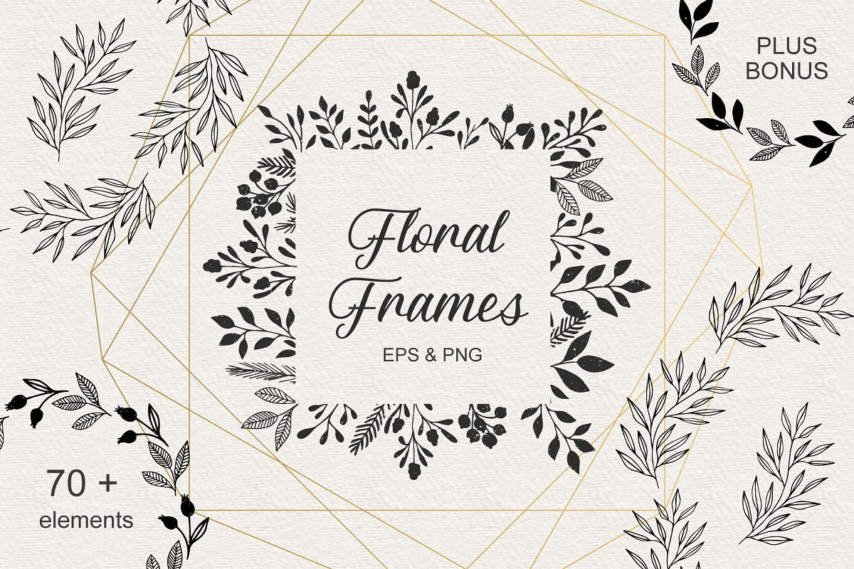 Floral frames example image 1