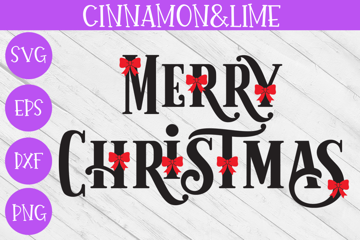 Christmas Svg - Merry Christmas Sign example image 1