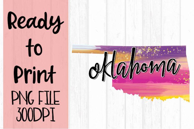 Oklahoma Painted States Ready to Print example image 1