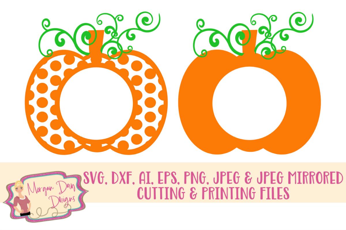 Pumpkin Monogram SVG, DXF, AI, EPS, PNG, JPEG example image 1