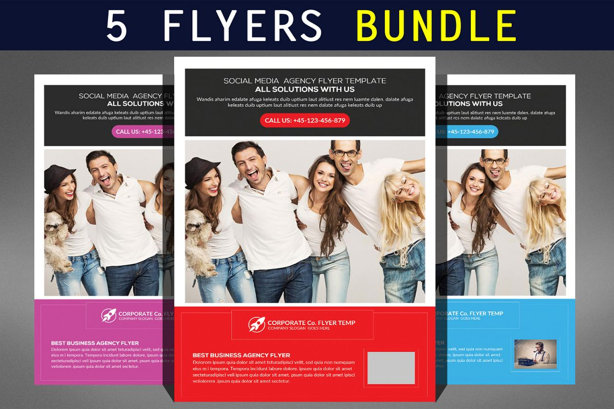 Clean Corporate Business Flyer Bundle example image 1