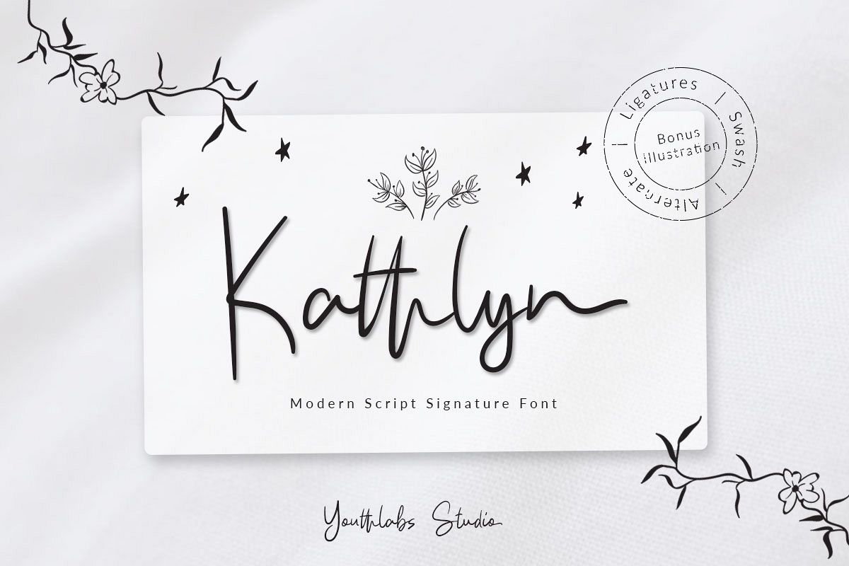 Kathlyn Signature Font example image 1