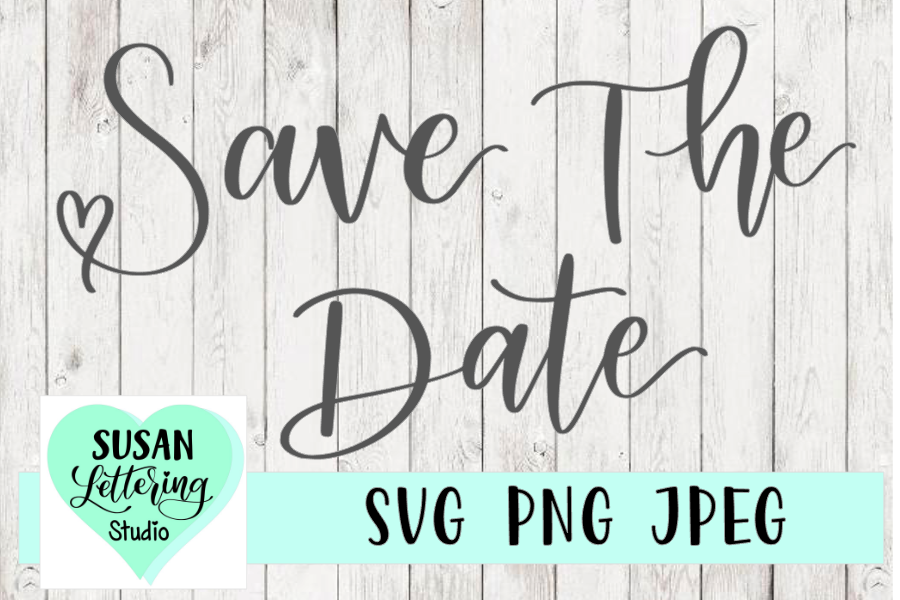 Save The Date SVG, Hand lettered, Wedding, Engaged example image 1