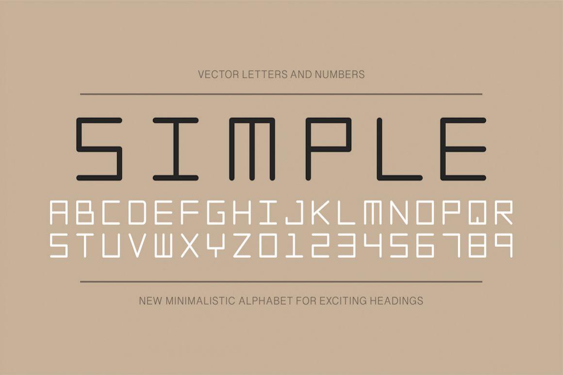Simple english minimalistic alphabet example image 1