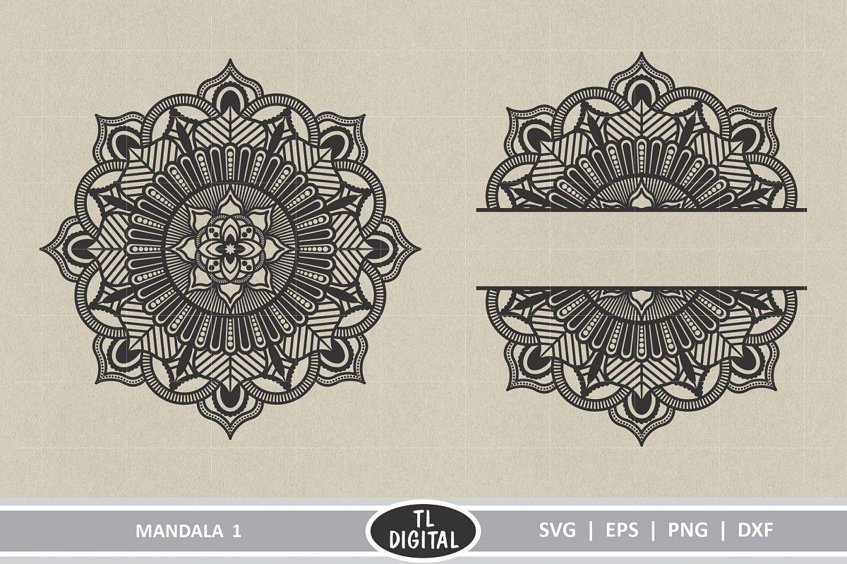 Mandala 1 - Boho Graphic - SVG | EPS | PNG | DXF example image 1