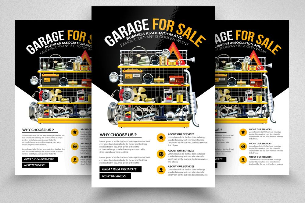 Garage Sale Psd Flyer Print Templates example image 1