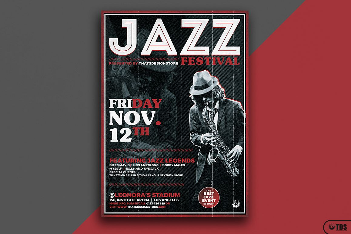 Jazz Festival Flyer Template V3 example image 1