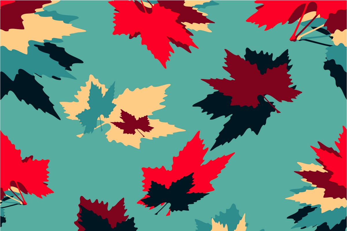 Maple leaves. Seamless pattern. example image 1