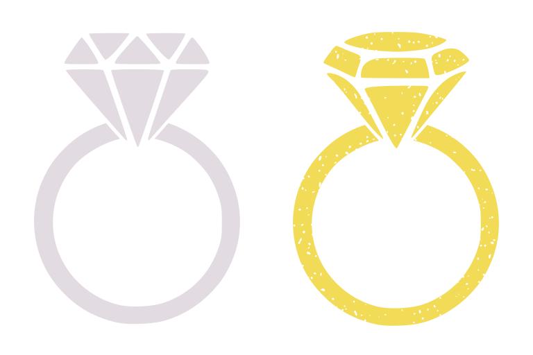 Diamond Rings Svg