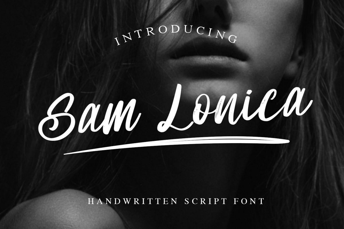 Sam Lonica Handwritten Script Font example image 1