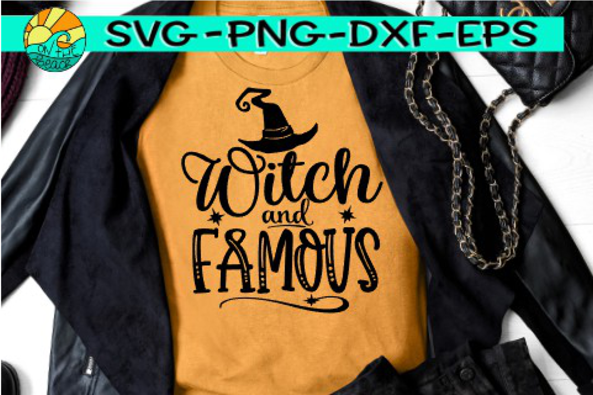 Witch And Famous - Halloween - SVG PNG EPS DXF example image 1