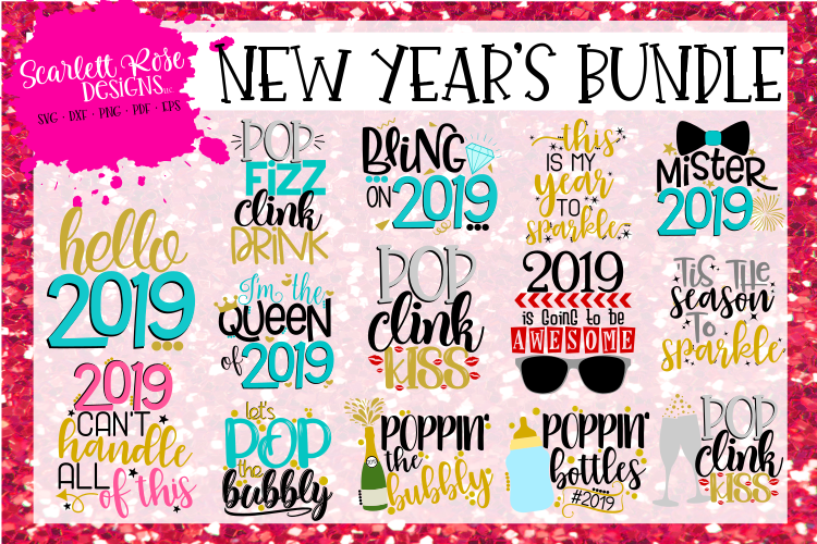 New Year's SVG Bundle - 2019 example image 1