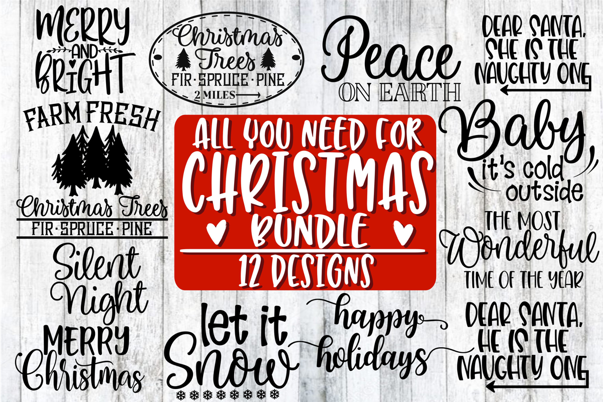 All You Need For Christmas Bundle - 12 Designs example image 1