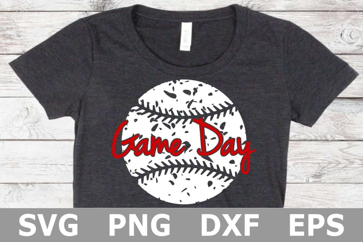 Game Day Grunge Baseball - A Sports SVG Cut File example image 1
