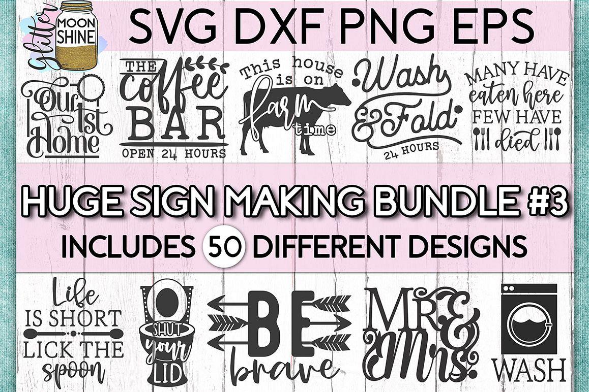 Huge Sign Making Bundle #3 SVG DXF PNG EPS Cutting Files example image 1
