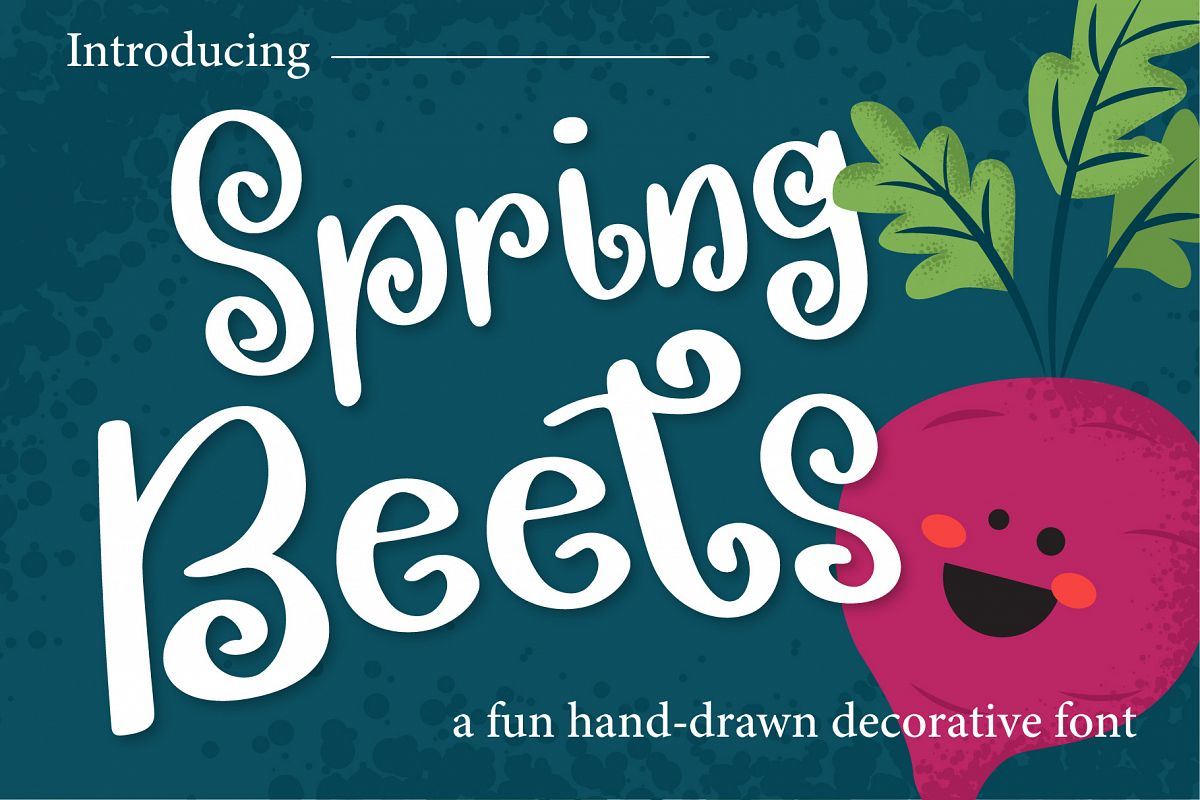 Spring Beets Font example image 1