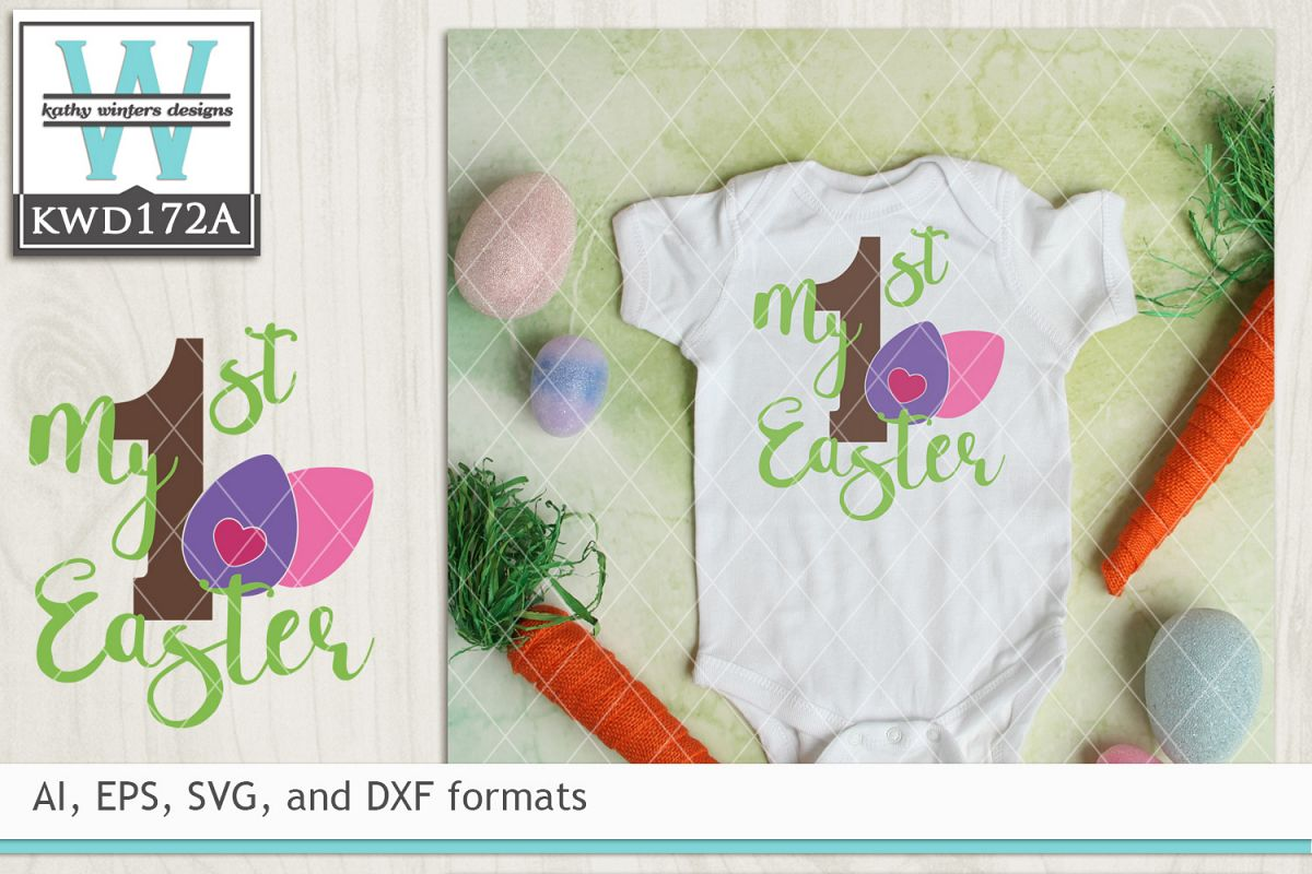 Easter SVG - My First Easter example image 1
