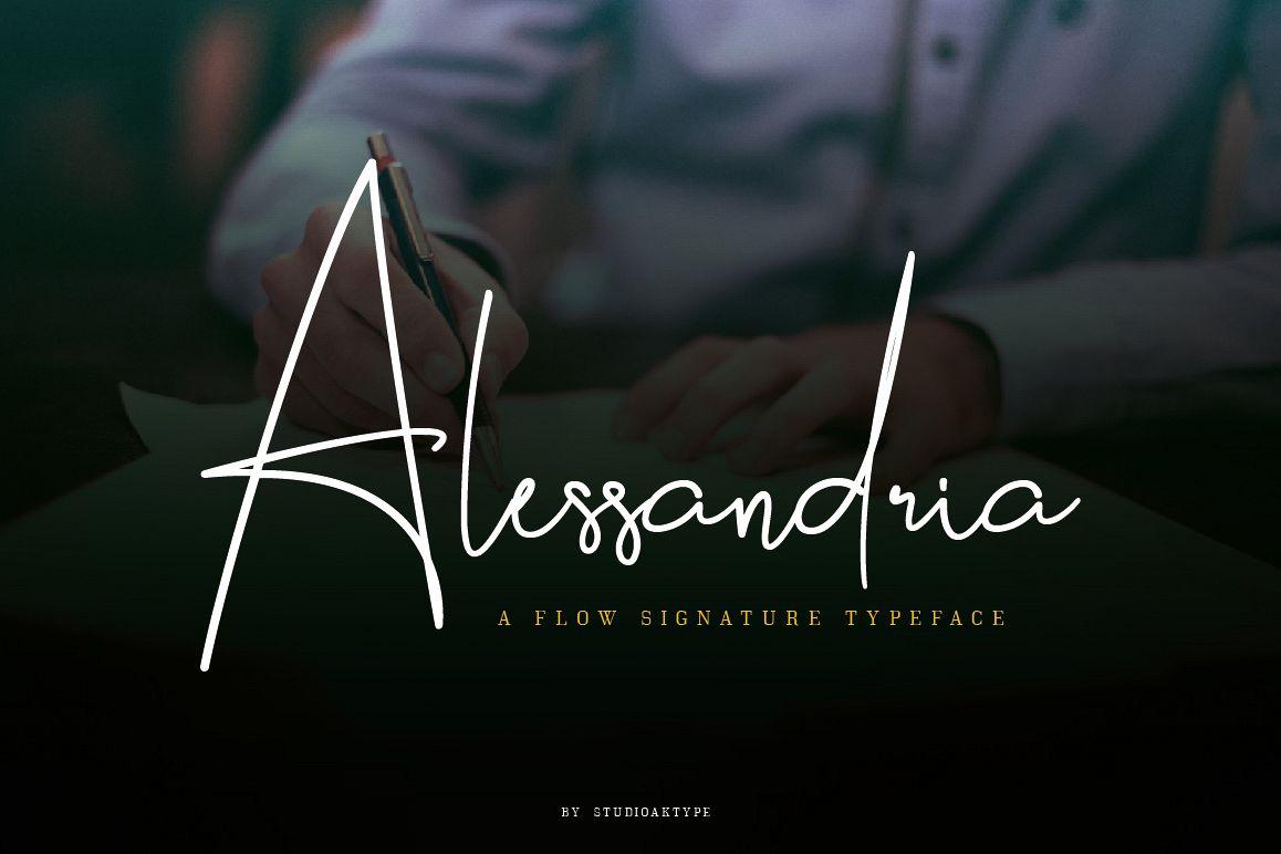 Alessandria Signature Font example image 1