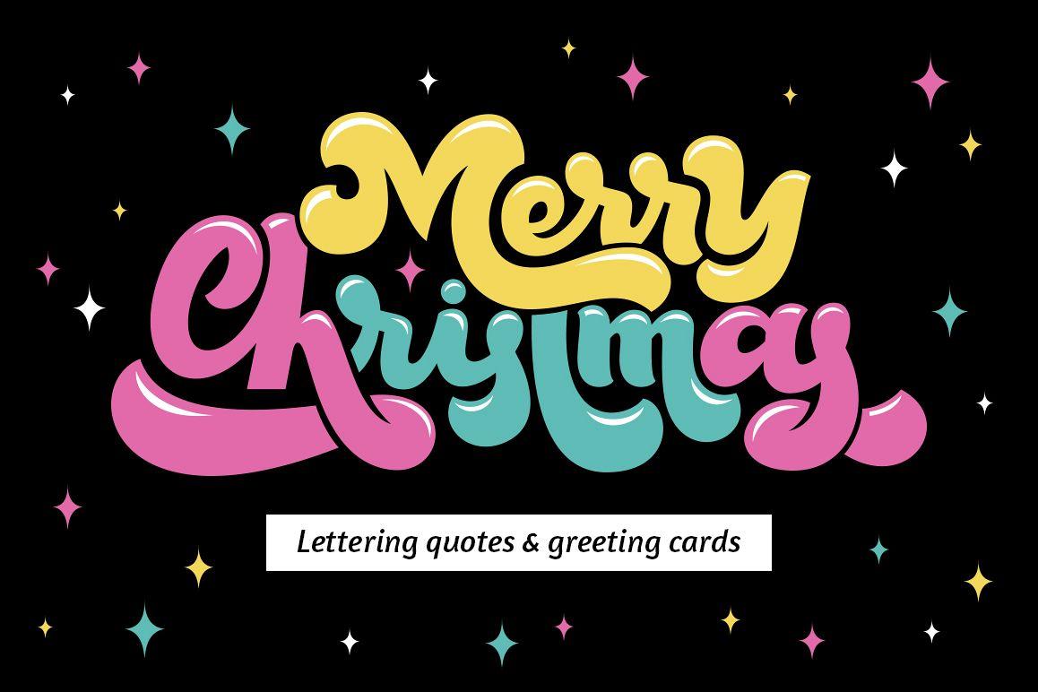 Christmas Lettering.Christmas Lettering Set
