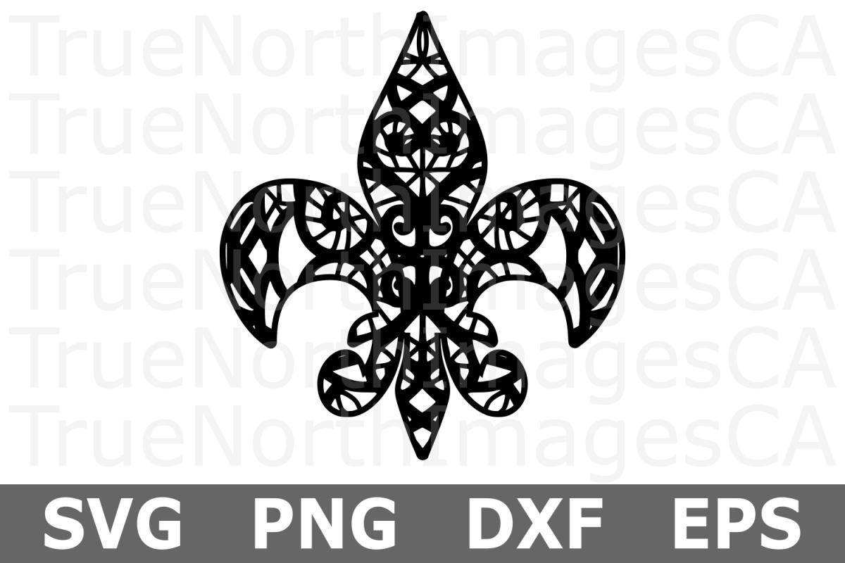 Fleur De Lis - A Mardi Gras SVG Cut File example image 1