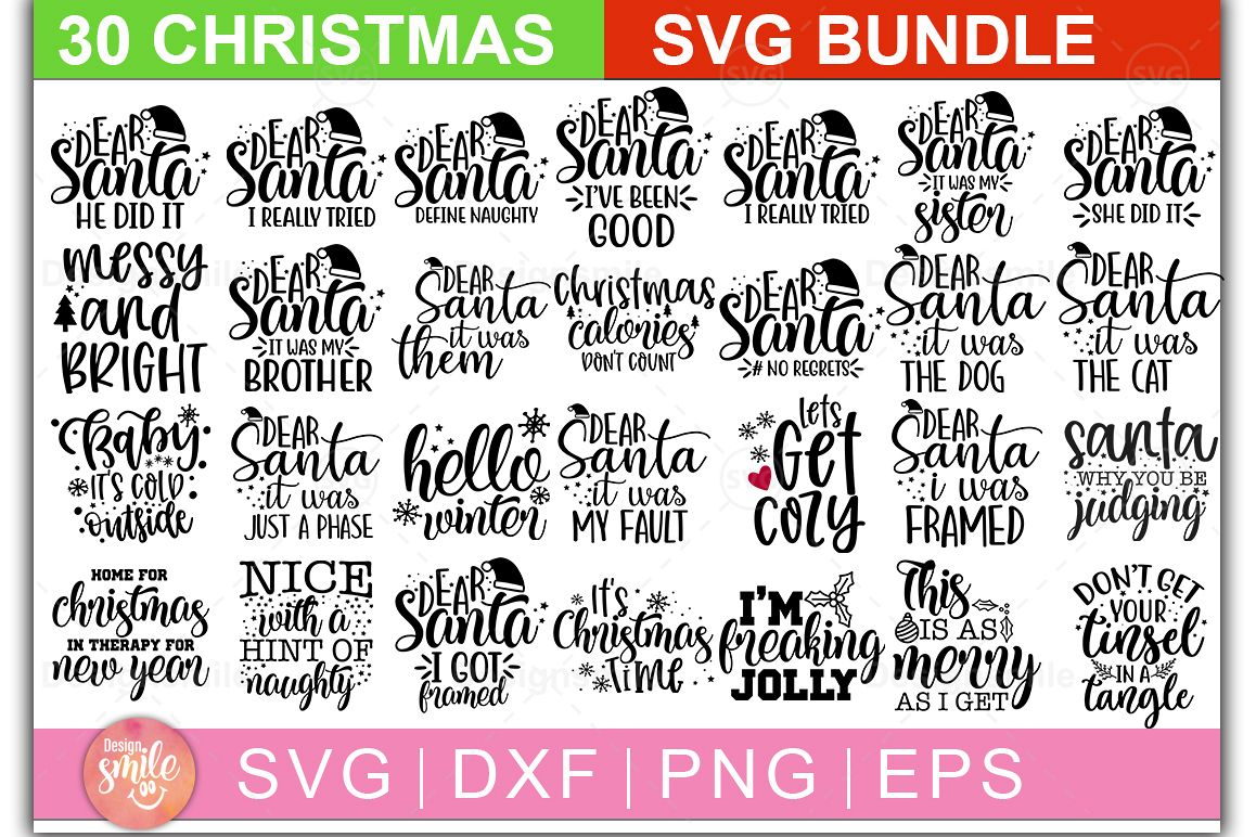 Christmas SVG Bundle |30 Designs example image 1
