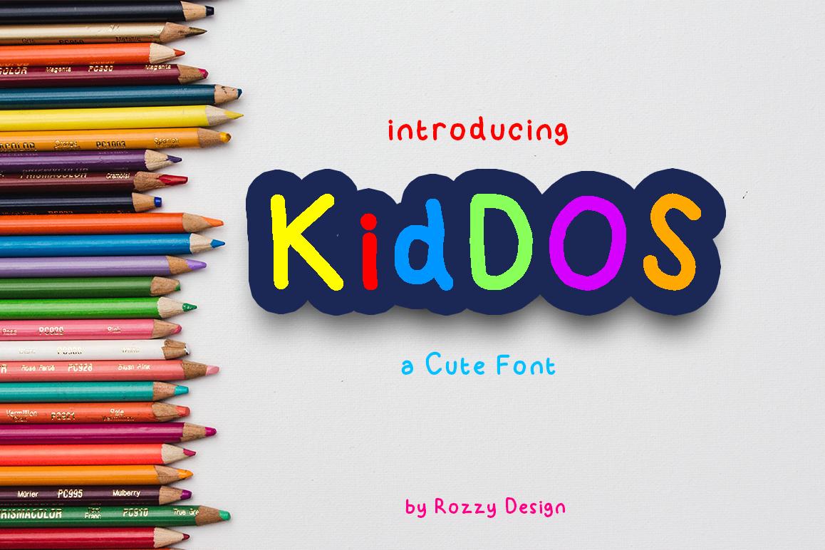 KidDos Cute Font example image 1