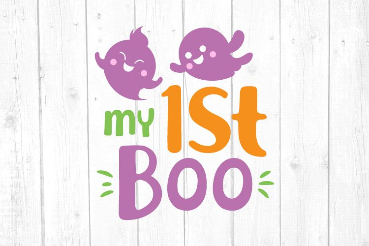 My First Boo Svg, My 1st Boo Svg, Halloween Svg, Ghost Svg example image 1