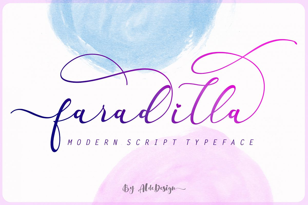 Faradilla - Beautiful Script example image 1