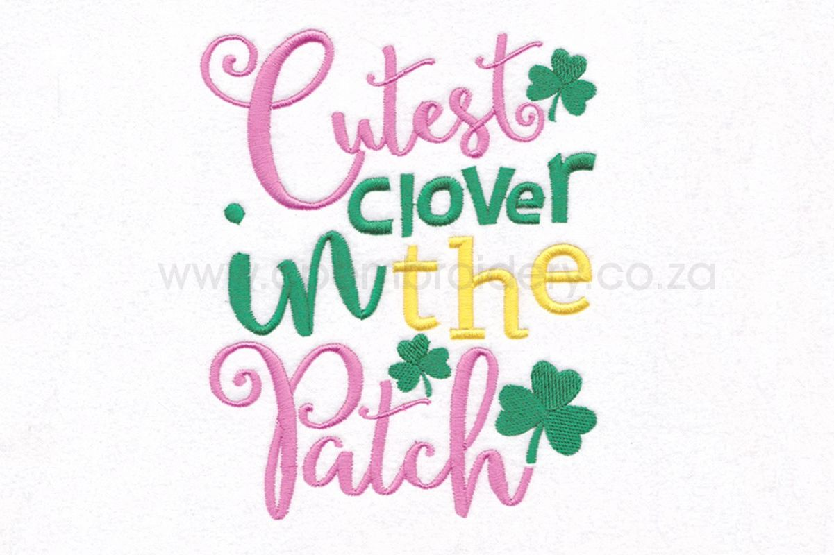 Cutest Clover in the Patch St Patrick's Day Design example image 1