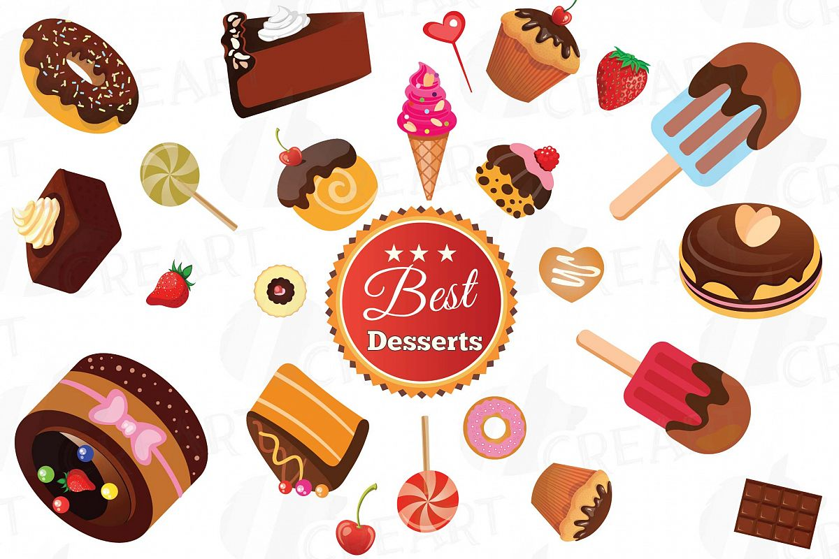 Desserts Clipart collection, delicious cakes Clipart ...