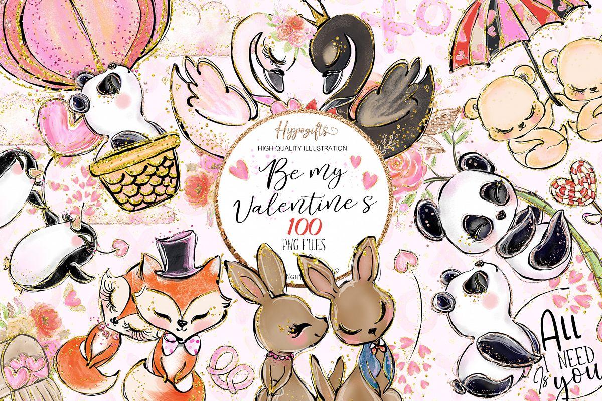 Valentine's clip art example image 1