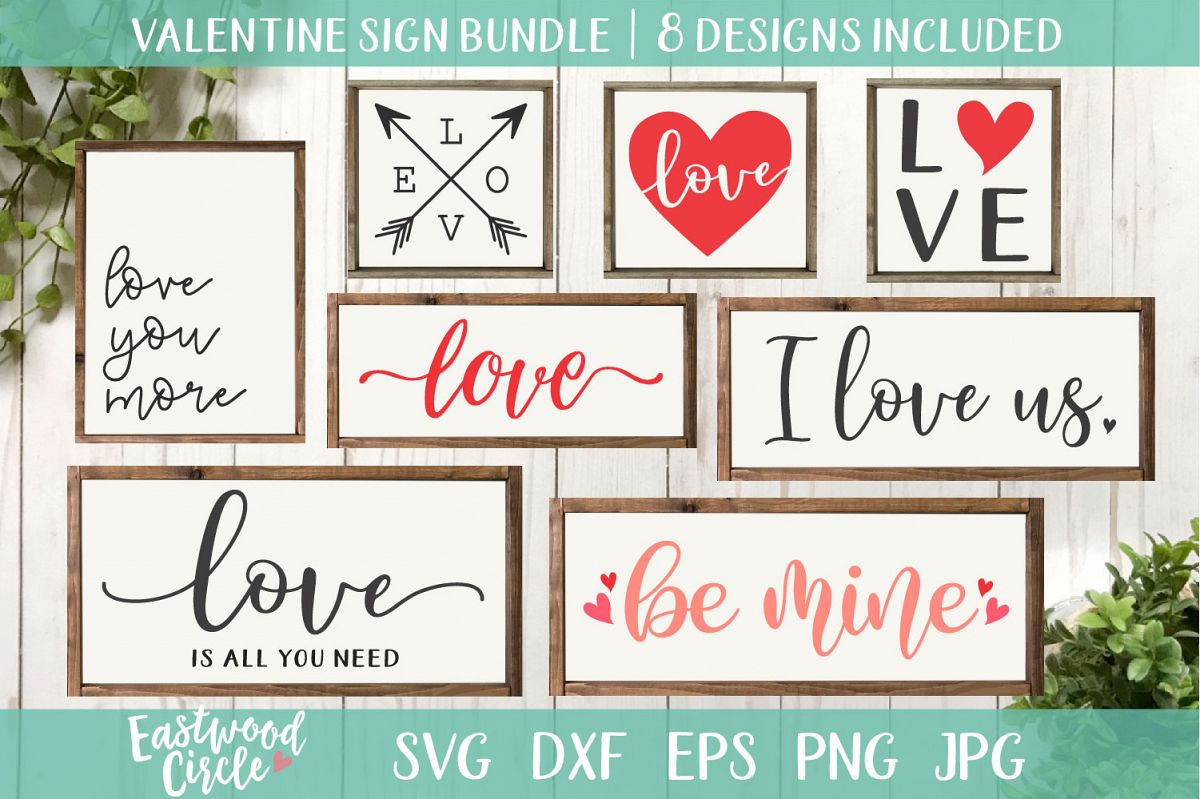 Valentine's SVG Cut File Bundle for Crafters example image 1