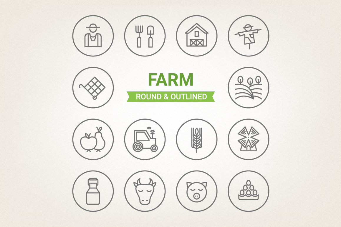 Circle Farm Icons example image 1