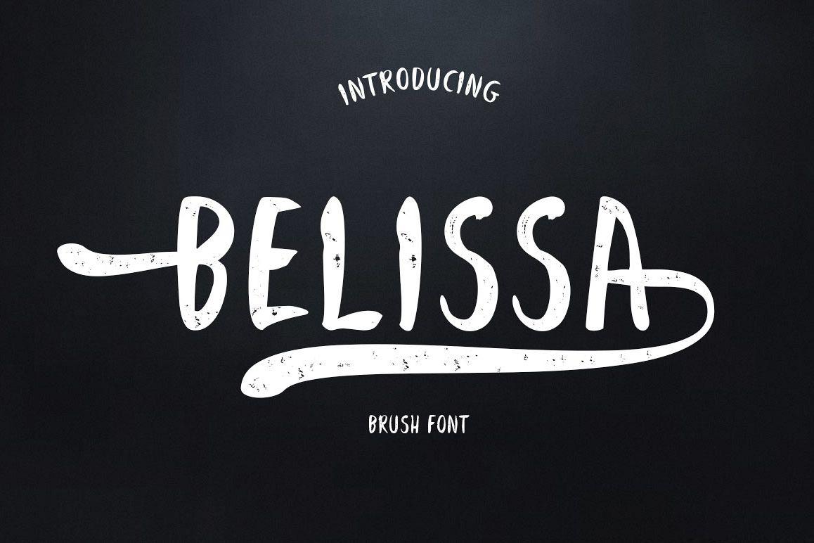 Belissa Brush Font example image 1