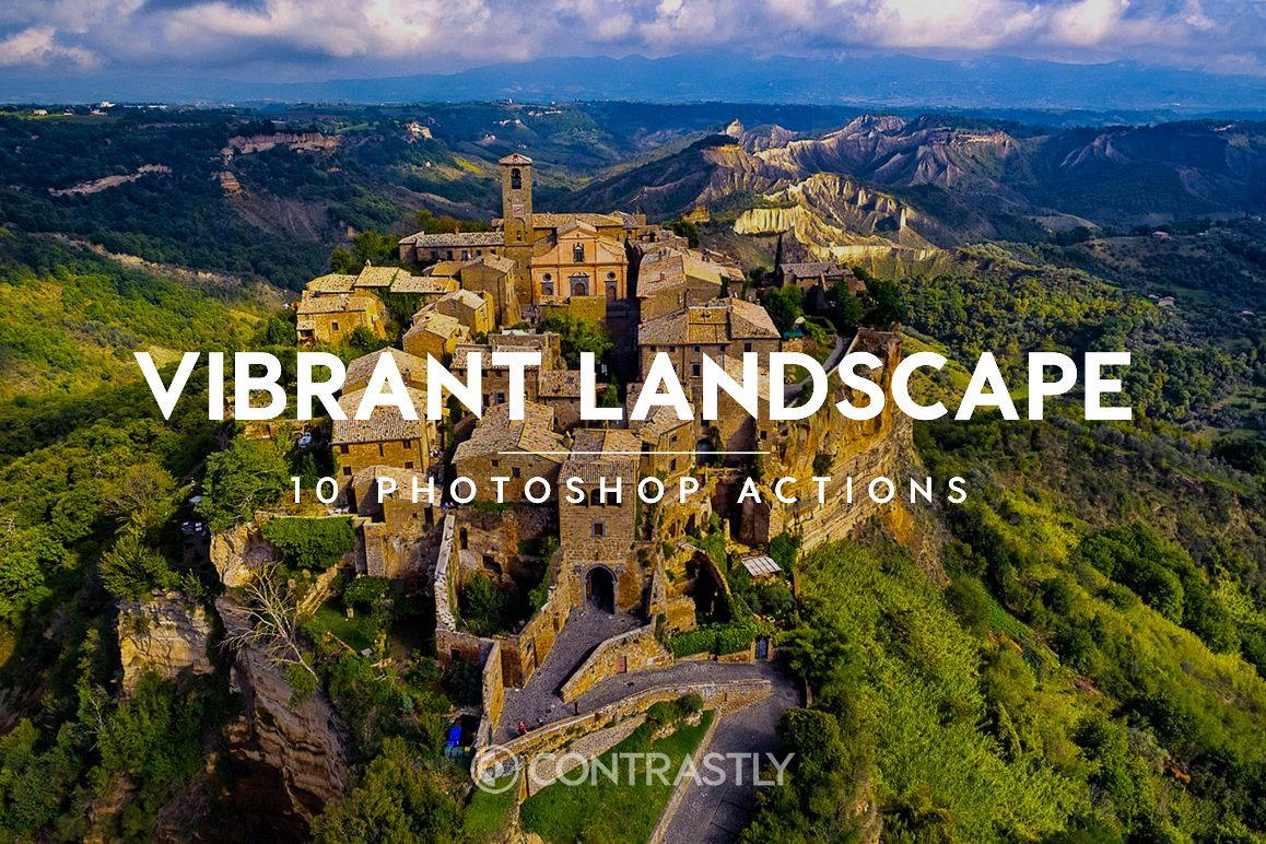 Vibrant Landscape Photoshop Actions example image 1