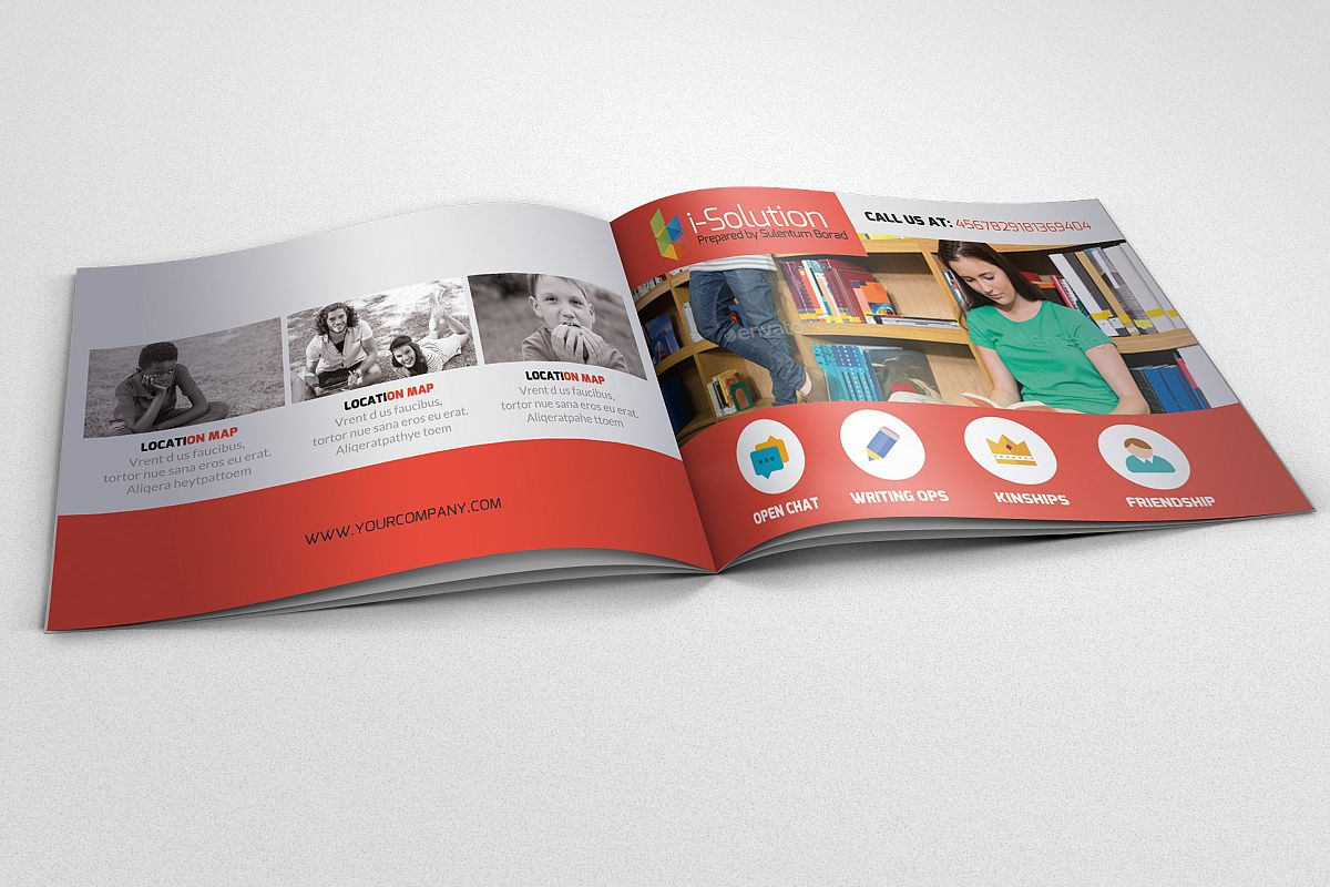 Education Square Bifold Brochure example image 1