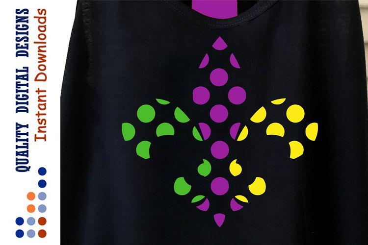 Mardi Gras Fleur De Lis svg Dots example image 1