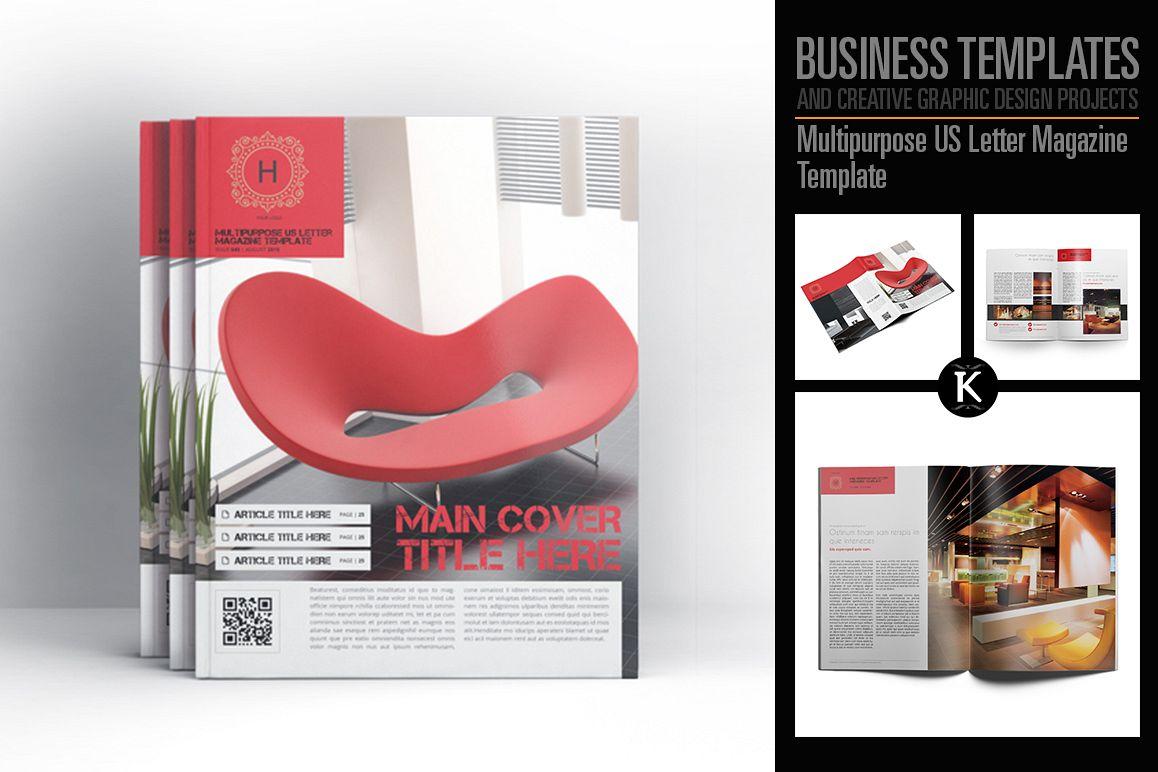 Multipurpose US Letter Magazine Template example image 1